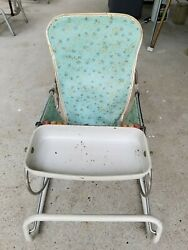 Vintage 1950#x27;s COSCO Baby Bouncer Chair. Turquoise. Beads. $22.00