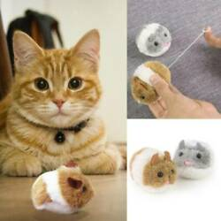 Pet Cats Spring Power Plush Mouse Toy Cat Dog Playing Toy Rat Realistic Toys Q $2.42