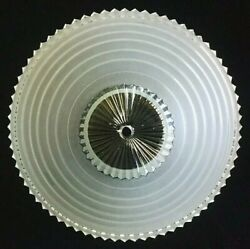 Vintage Light Shade Globe Glass Center Hole Semi Flush Clear Frosted White 10quot; $29.95