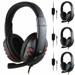 Gaming Headset Surround Stereo Headphone OverEar MIC 3.5mm for PC Laptop Desktop $11.39