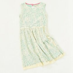 Johnnie b Girls Dress 15 16Y Green Lace Fit amp; Flare Sleeveless Summer Juniors $26.99