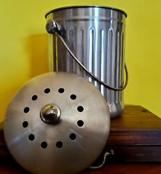 1 Gallon Industrial Style Stainless Steel Countertop Compost Pail Ice Pail $30.00