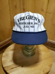 Vintage Fregien#x27;s Fertilizer Inc. Jud ND Mesh Snapback Trucker Hat Cap $14.02