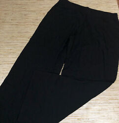 G-121 Denim & Co Beach Pull-On Pants with Side Slits BLACK size XS Tall $12.91