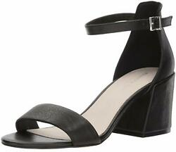 Kenneth Cole New York Womens Hannon Vinyl Fabric Open Toe Ankle Black Size 6.5 $57.97
