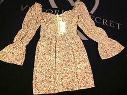 NWT Saint Genies multi floral bell sleeve off shoulder or on Boho mini dress si $10.00