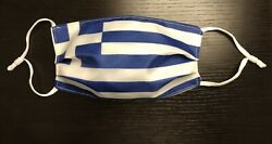 Greek Face Mask Greece Flag Washable Cotton Cloth