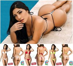 Coqueta Swimwear Sexy Brazilian Women#x27;s Mini Micro Bikini G string Thong Set NEW $31.99