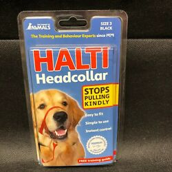 Halti Obedience Training Headcollar -Stops Pulling Dogs- Size 3Large Black New $34.99