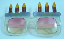 DR PEEPERS BRAND HAPPY BIRTHDAY NOVELTY ROSE COLORED LENS SUNGLASSES $14.95