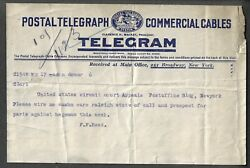 1904 POSTAL TELEGRAPH COMMERCIAL CABLE TELEGRAM US CIRCUIT COURT OF APPEALS $7.95