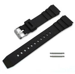 Black Rubber Silicone Diver#x27;s Style Replacement Watch Band Strap SS Buckle #4031 $9.95