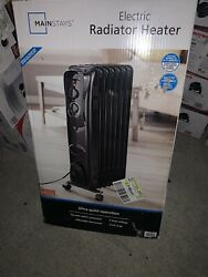 Mainstays Oil Filled Radiant Heater radiator electric space heat quiet $45.00