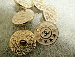 Chanel 4 cc buttons  gold tone white  18mm lot of 4 good condition stars $44.00