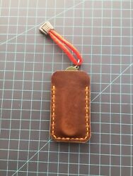 """CLW - Brown Leather Folding Knife Sheath EDC Pouch Slip Joint Knives 2"""" X 4"""" $15.99"""