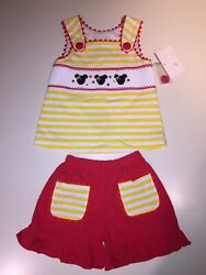 Banana Split Kids Boutique Toddler Girls Size 4T Minnie Mouse 2-piece Outfit NWT $40.00