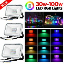 20x RGB LED Commercial Flood Light Outdoor Landscape Spotlight Stage Lamp IP67