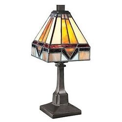 1 Light Tiffany Desk Lamp Small Tiffany Table Lamp Geometric Style Vintage $47.27