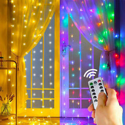 LED Curtain Fairy Hanging String Light Wedding Party USB Powered Wall Decor Lamp $12.59