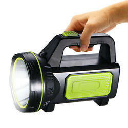Durable Searchlight Handheld Portable Spotlight USB Rechargeable Flashlight NEW $15.78