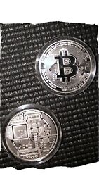 Bitcoin 1 oz .999 silver coin $41.99