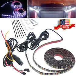 2x Pure White Truck Cargo Bed LED Light Strip Kit for Chevy Silverado Waterproof $19.22