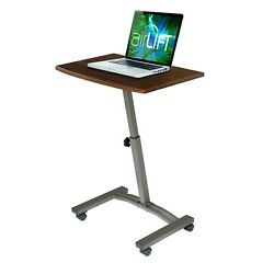 SEVILLE CLASSICS AIRLIFT MOBILE LAPTOP COMPUTER DESK CART HEIGHT ADJUSTABLE $39.99