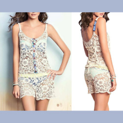 NWT Maaji Bower Fragrant Lace Cover Up Romper SZ Medium or Large #2036 $39.99