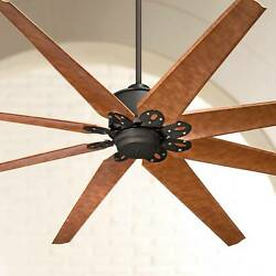 72quot; Outdoor Ceiling Fan with Remote English Bronze Damp Rated Lamps Plus