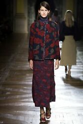 DRIES VAN NOTEN RUNWAY FLORAL PRINT SLEEVELESS MIDI DRESS 2015 FALL COLLECTION