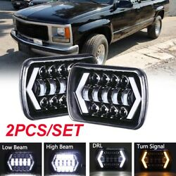 Pair 240W 5x7 7x6 LED Headlight Hi-Lo Beam Halo DRL For Jeep Cherokee XJ YJ $43.99