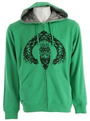 Oakley Arctic Wood Hoodie Large Solar Green