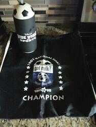 Disney WDW *Wide World of Sports*Soccer Drink Bottle and Souvenier Champion Bag $125.00