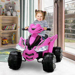 12V Battery Electric Ride On Quad Kids Toy Cars ATV W 2 Speeds ASTM F963 Pink $159.96