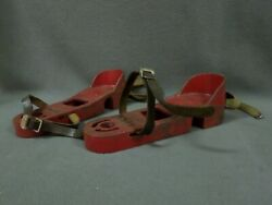 2 Vintage 5lbs YORK IRON BOOTS Heavy Steel Excercise shoes feet weights  $35.00