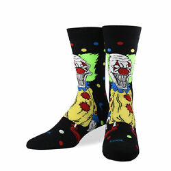 Cool Socks Unisex Graphic Killer Clown Crew Crazy Fun Silly Scary Dress $11.00
