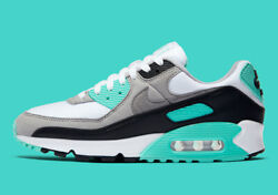 Nike W Air Max 90 White Particle Grey Hyper Turquoise CD0490-104 New Women's $104.97