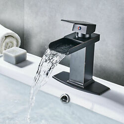 Bathroom Basin Faucet Waterfall Sink  Mixer Tap Oil Rubbed Bronze With Cover $42.00