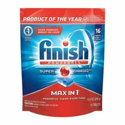 FINISH POWERBALL MAX IN 1Wrapper Free Dishwasher Detergent Tablets 16 ct $8.79