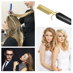 Electric Comb Straightener wand Hair Curling Irons Straightening Comb Hot Electr $18.99
