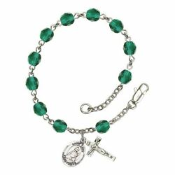 St. Lucy Birthstone Rosary - Available in 12 Colors $47.25