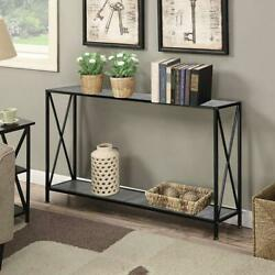 Console Table Modern Accent Side Stand Sofa Entryway Hall Display Storage Shelf $45.98