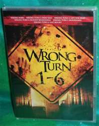 NEW WRONG TURN 1-6 MOVIE COLLECTION 1 2 3 4 5 6 HORROR SLASHER DVD SET 2017 $27.95