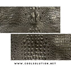 Embossed Leather Crocodile Black Leather Sheets for Crafters Wallets Bags $11.89