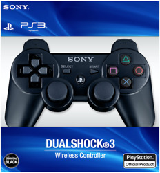 Sealed Black PlayStation 3 Dualshock Wireless Controller - Sony PS3 - Free Ship  $32.95