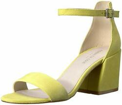 Kenneth Cole New York Womens Hannon Vinyl Fabric Open Toe Ankle Lemon Size 9.5 $19.99