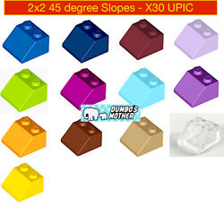LEGO Slope 45 2x2 Slopes Roof Wall Building Parts Friends Colors NEW UPIC X30 $2.89