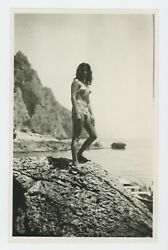EXOTIC ISLAND WOMAN TAN GIRL SWIMSUIT SUN BATHING SUIT SUMMER PHOTO SNAPSHOT $9.99
