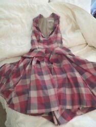 Stunning All Saints Hector Dress Red  Grey Size 6 Excellent Condition $56.28