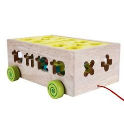 Learning Car Shape Kids Blocks Toys Wooden Brain Water Paint Cognitive Puzzle O3 $35.87